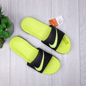 Nike Benassi Solarsoft 2 Slide Black/Neon Green 10